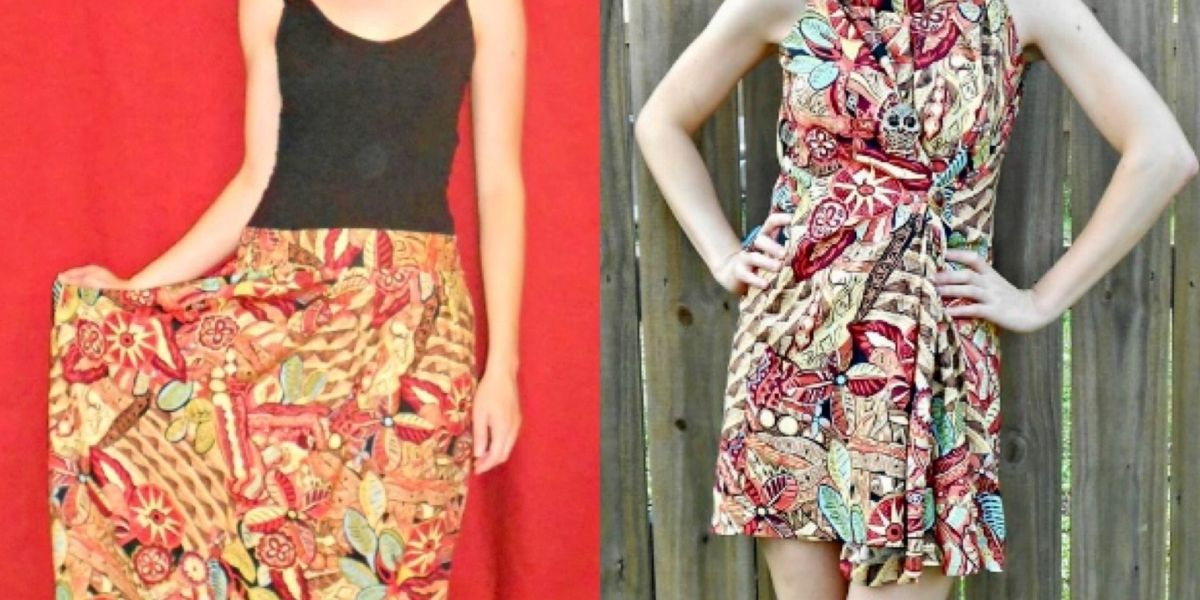 No-Sew Skirt to Dress Refashion featured image