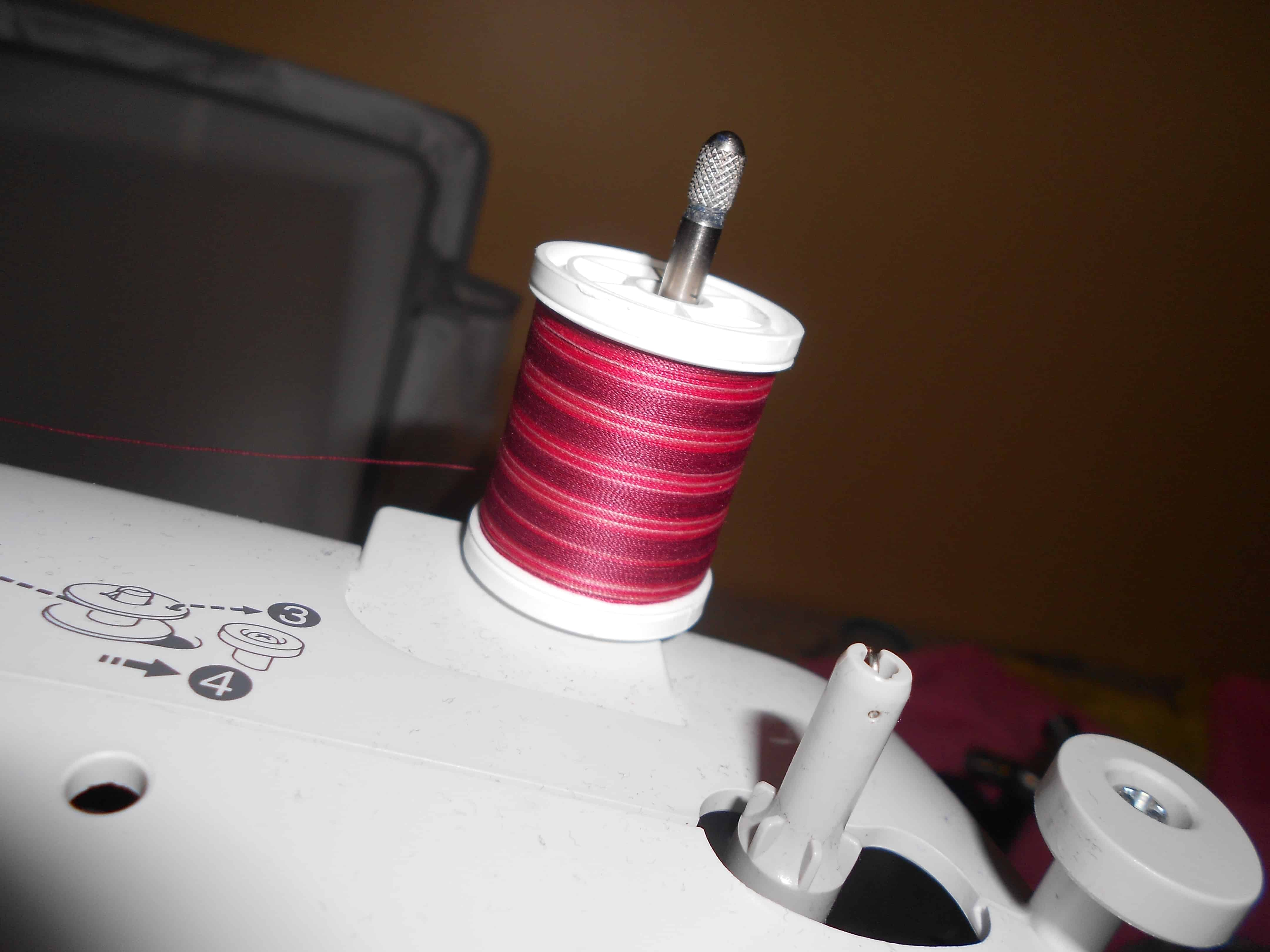 ombre thread on sewing machine