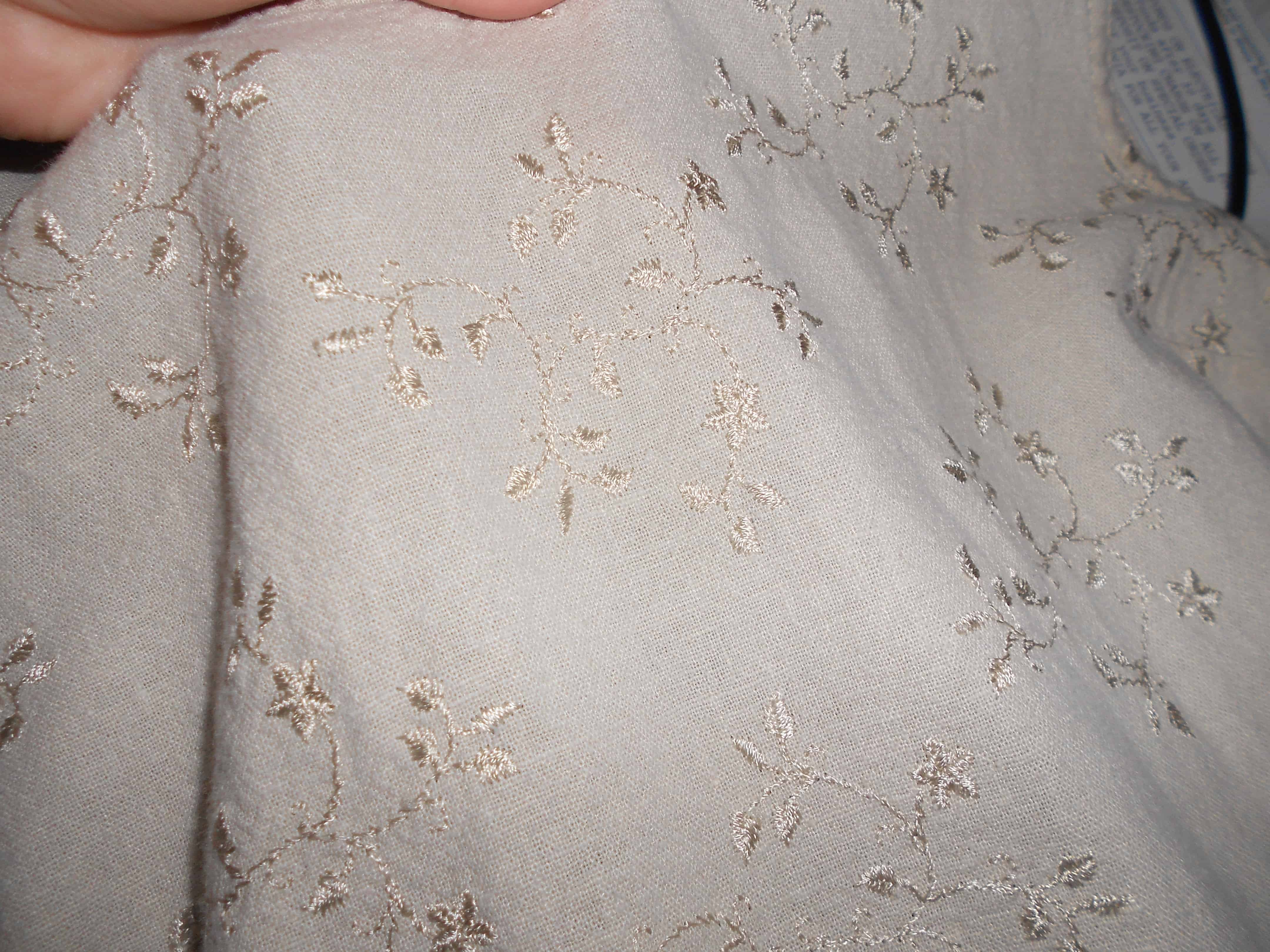 embroidered fabric closeup