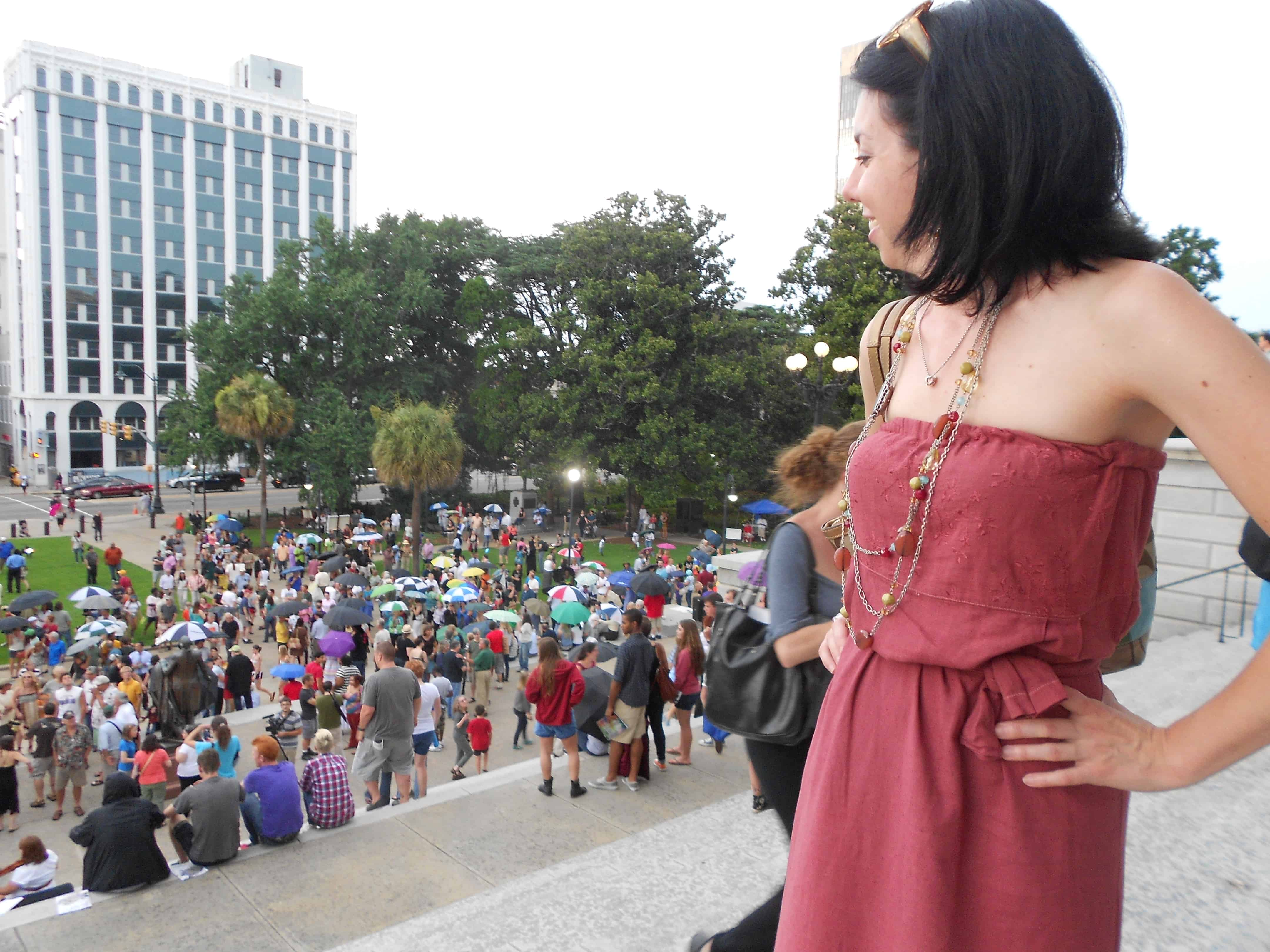 Rally for the Arts: A Sleeveless to Strapless Dress Refashion 11
