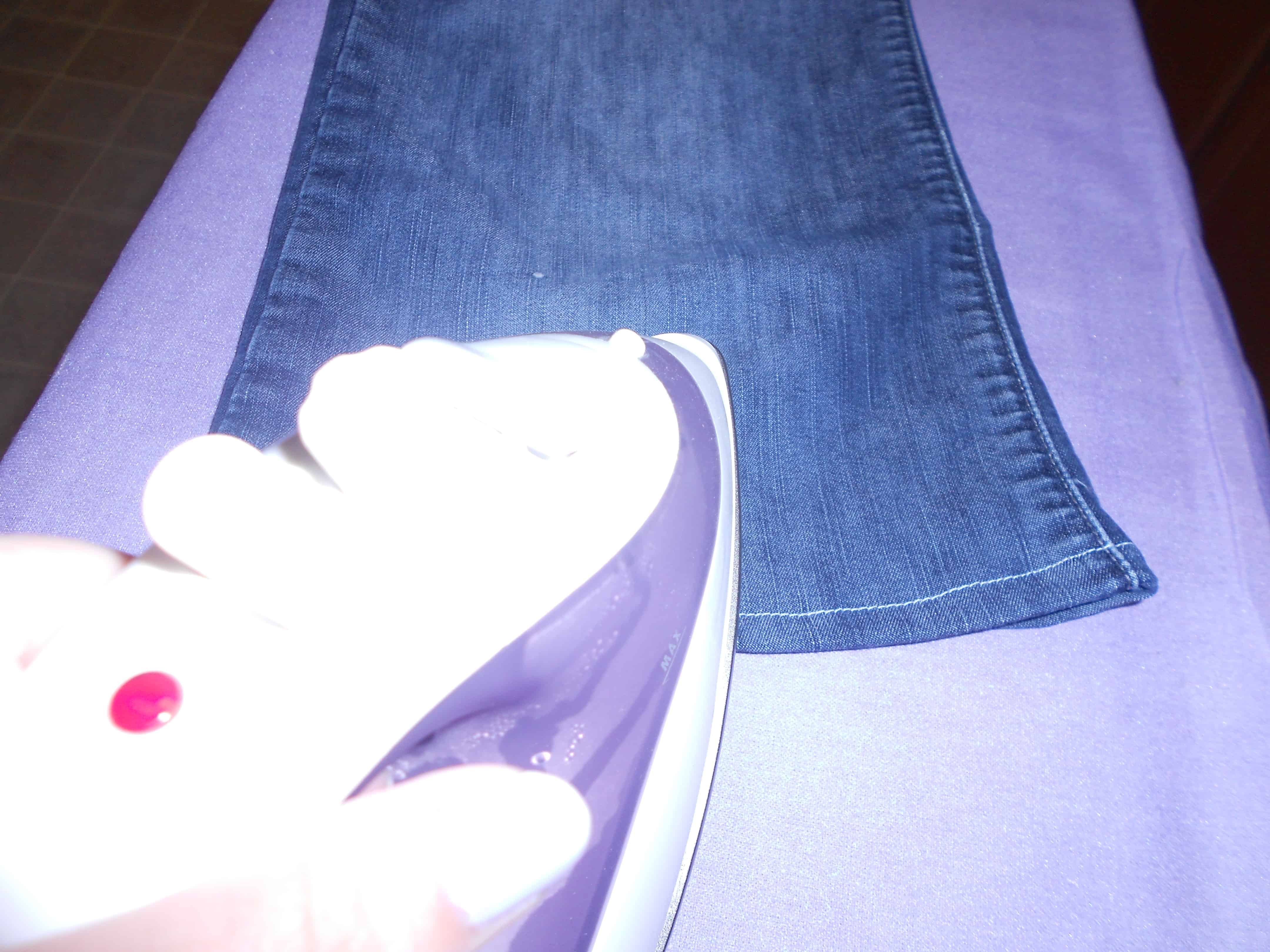 ironing bottom hem of jeans