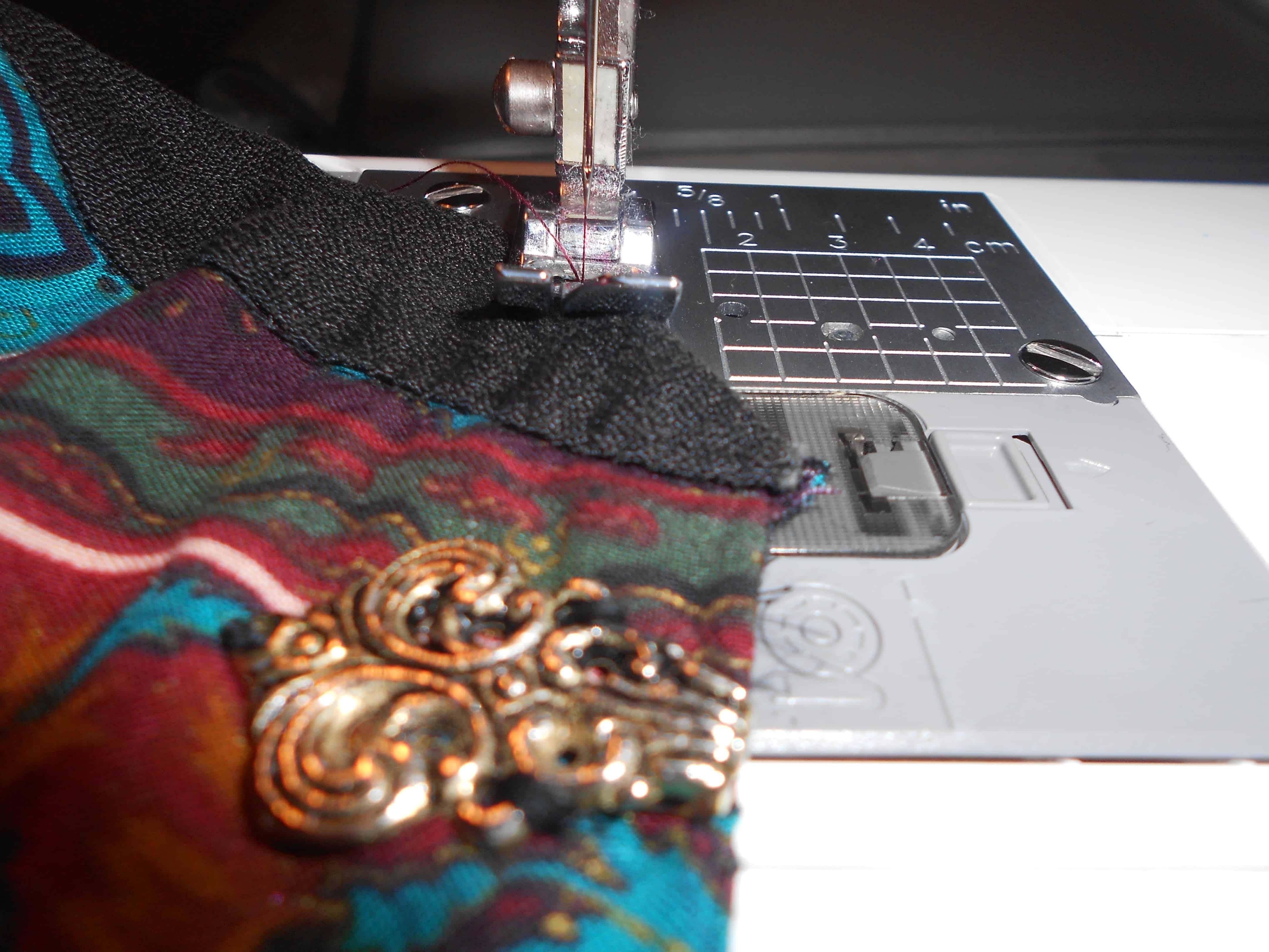 stitching neckline