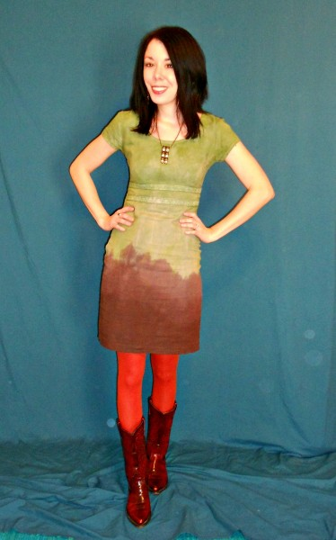 The Grass is Greener: Double Dip Dyed Dress after