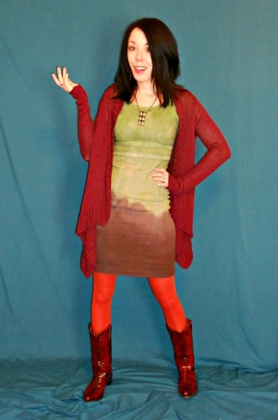 The Grass is Greener: Double Dip Dyed Dress with sweater