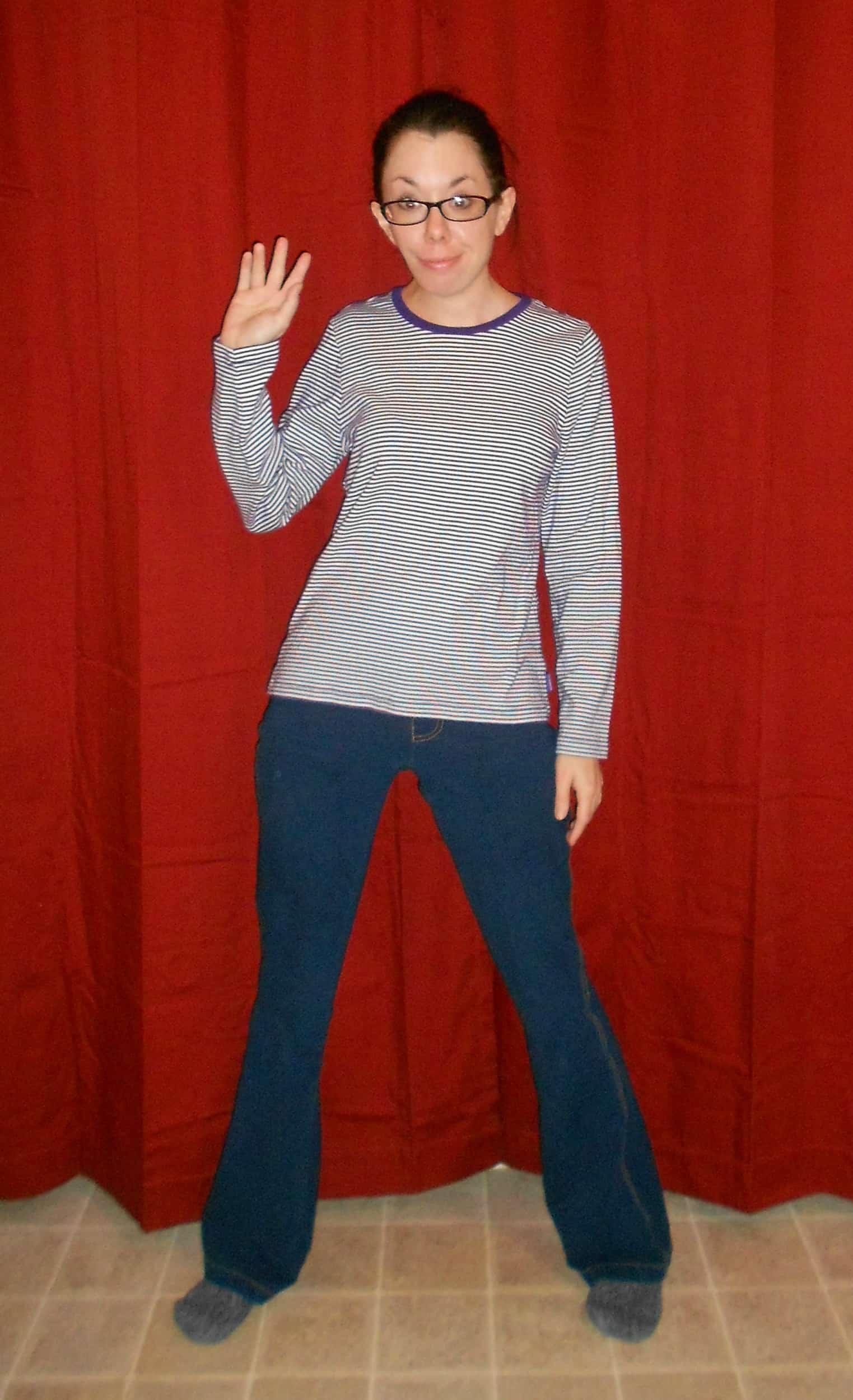 Hi. Do you like my pajama jeans?