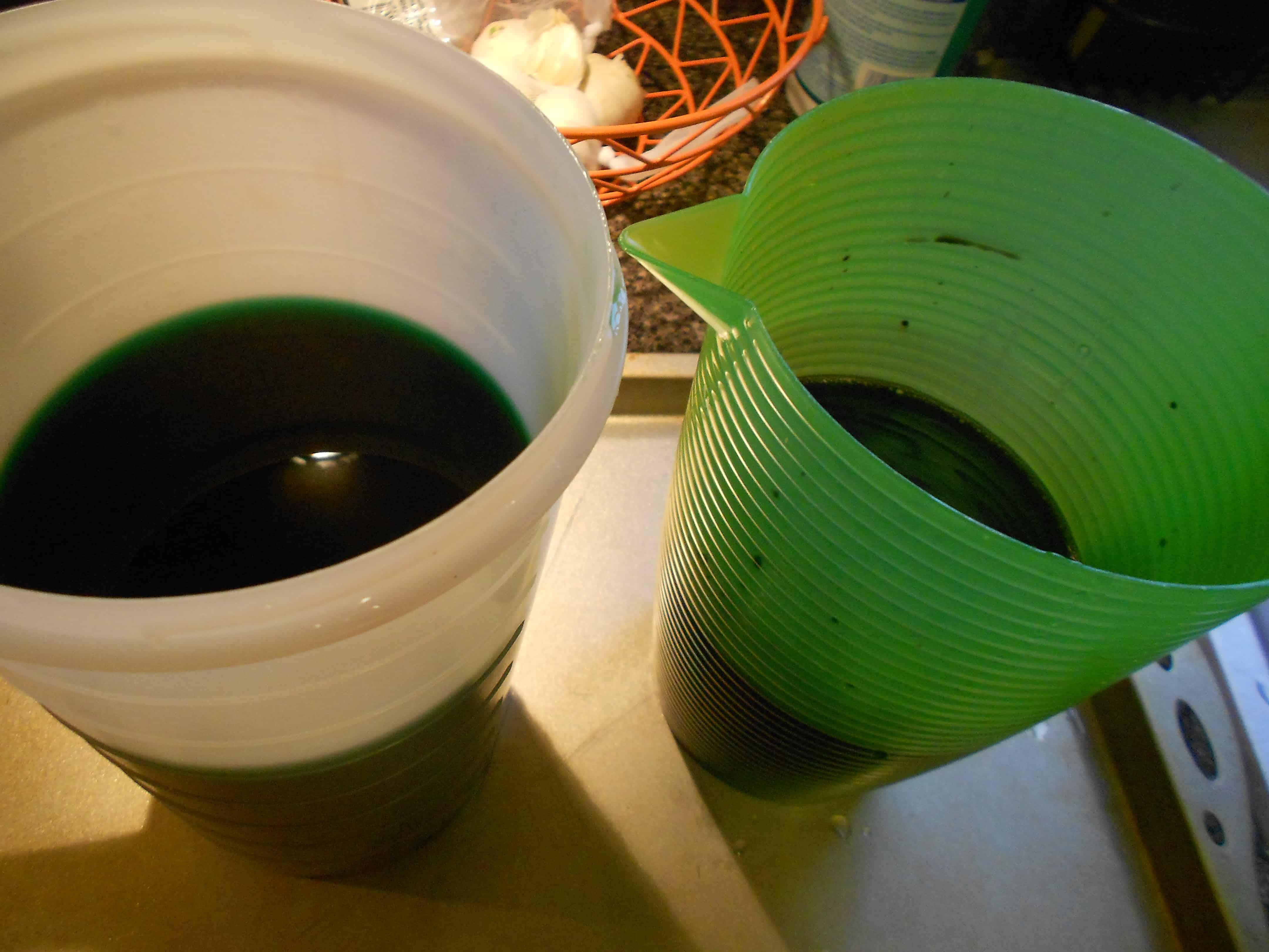 dye in pitchers