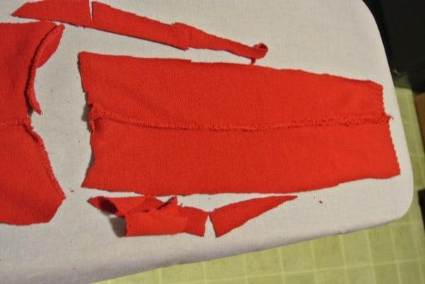 side scrap from sweater