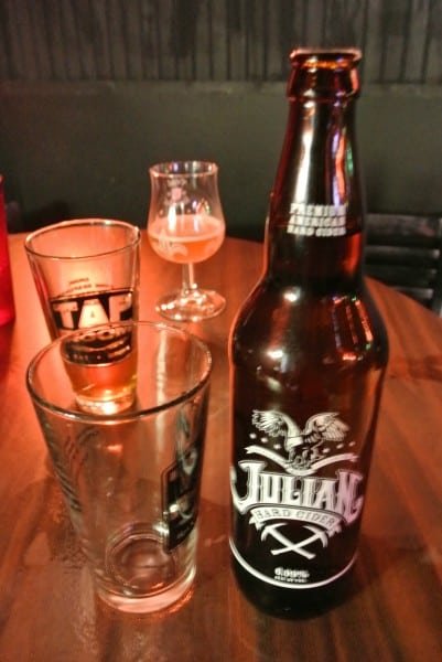 bottle of Julian cider