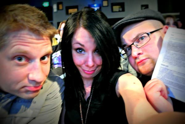 Brad, Jillian, and Dan in movie theater