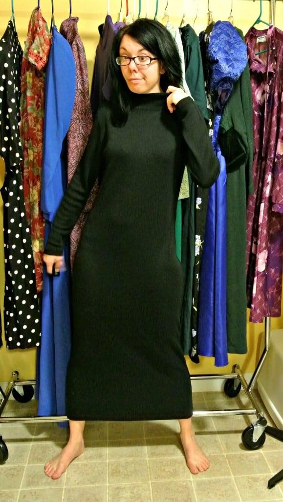 Little Black Sweater Dress Refashion