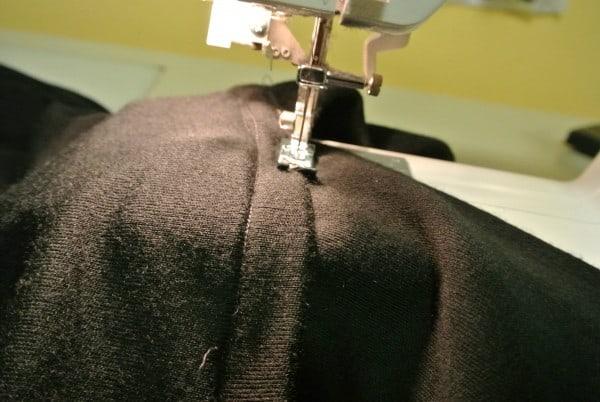 sewing sleeves down