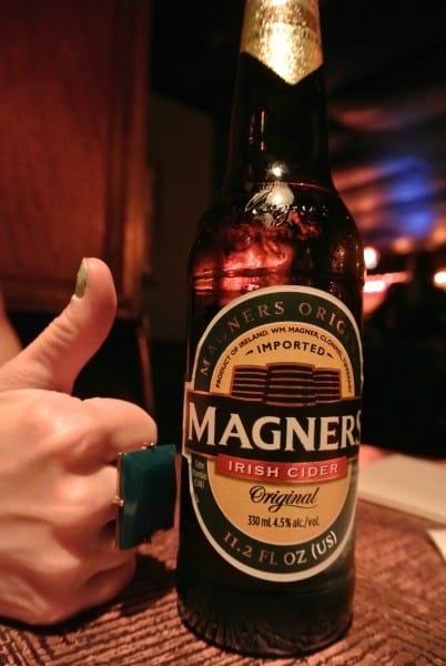 bottle of magners cider