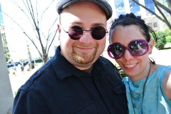 dan and jillian in sunglasses
