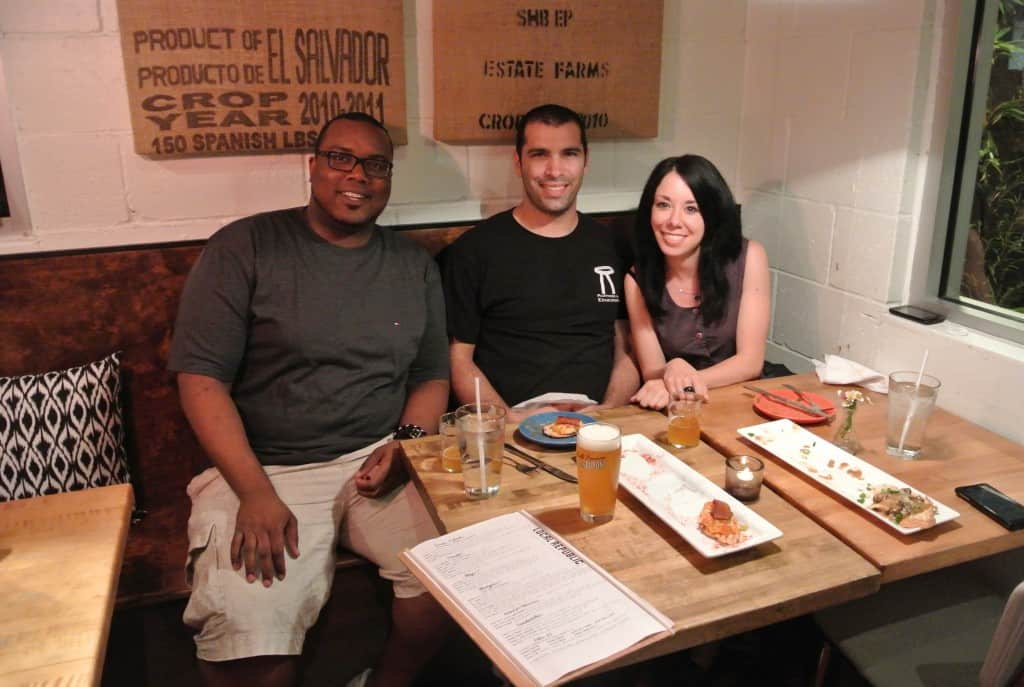 Travis, Mike, and Jillian at table
