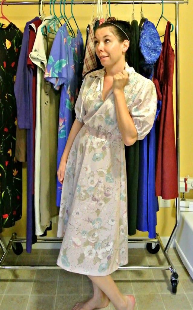 easy no sew dress refashion before