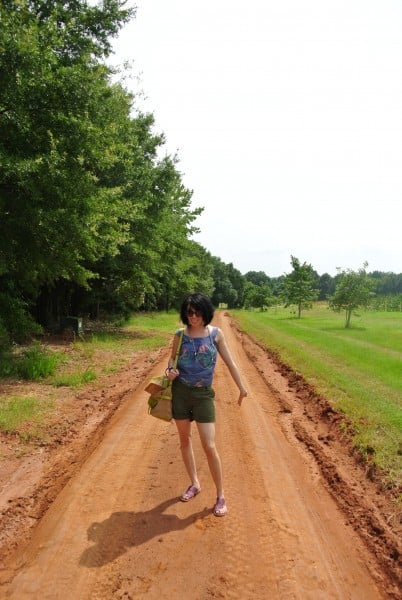 Just follow the dirt road...