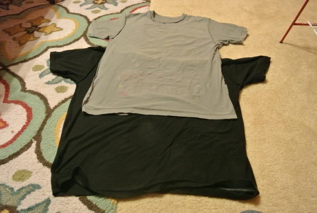 refashionista two tees one dress refashion layering t-shirts