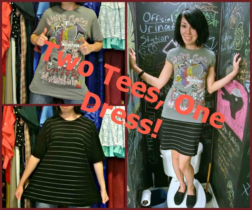 refashionista two tees one dress refashion main image