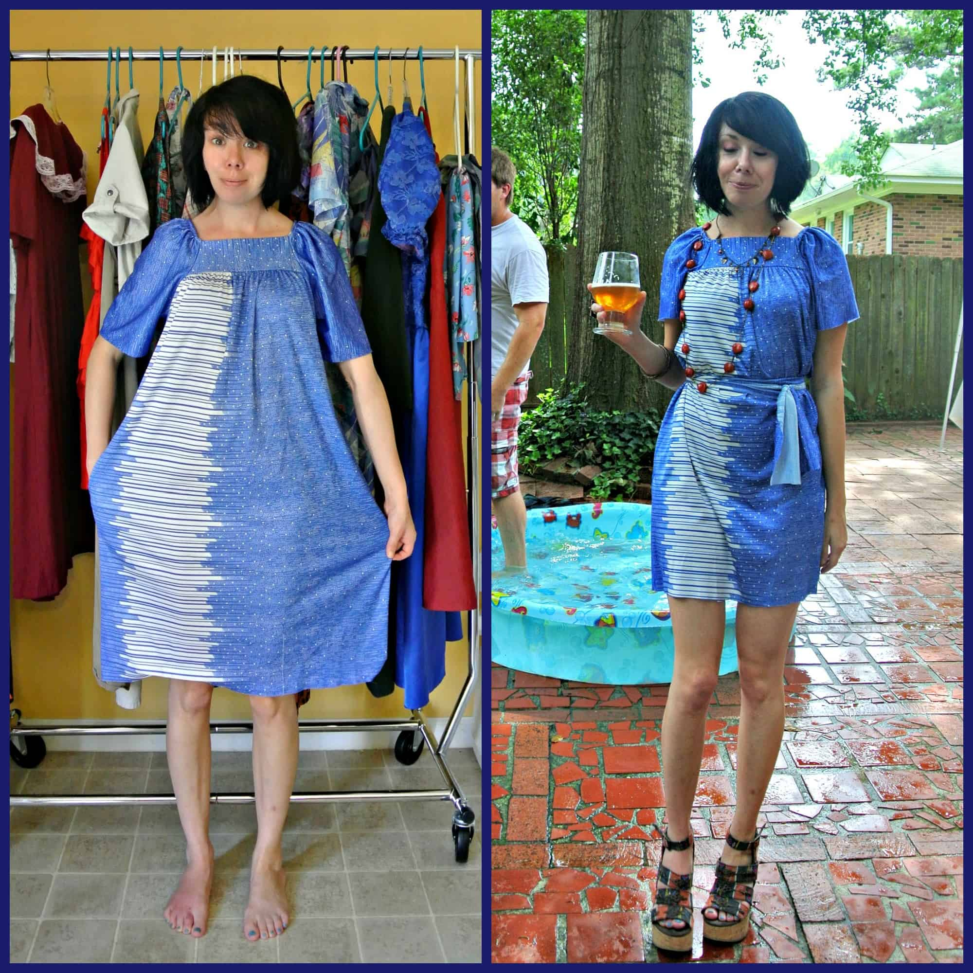 A No-Sew Aquatic Muumuu Dress 11