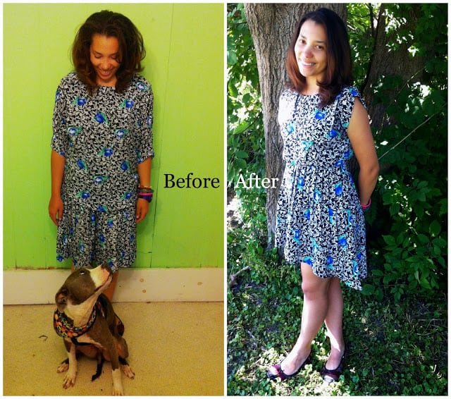 Two Tees, One Dress: A T-shirt to Dress Refashion 6