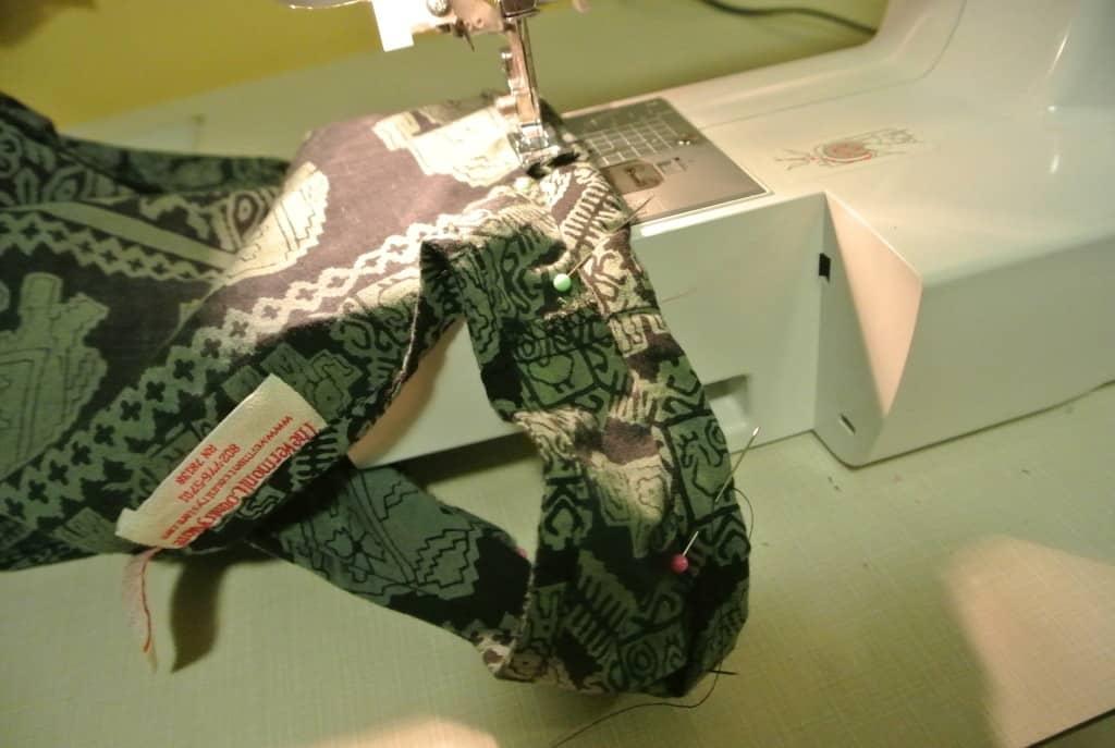 Stitching armhole