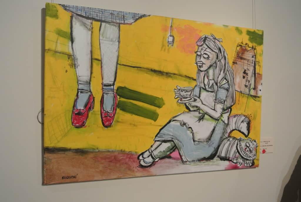 Alice in wonderland painting by Michael Krajewski