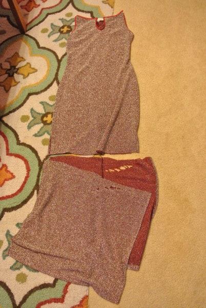 removing bottom of dress