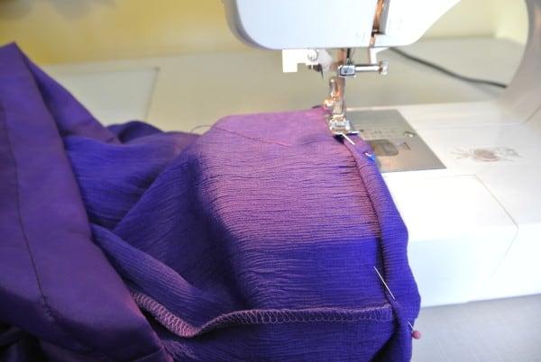 sewing hem on sewing machine