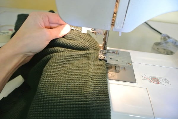 Stitching sleeve for refashioned dress