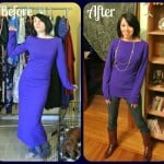 Midnight at the Mountain Oasis:  A Dress to Top ReFashion!