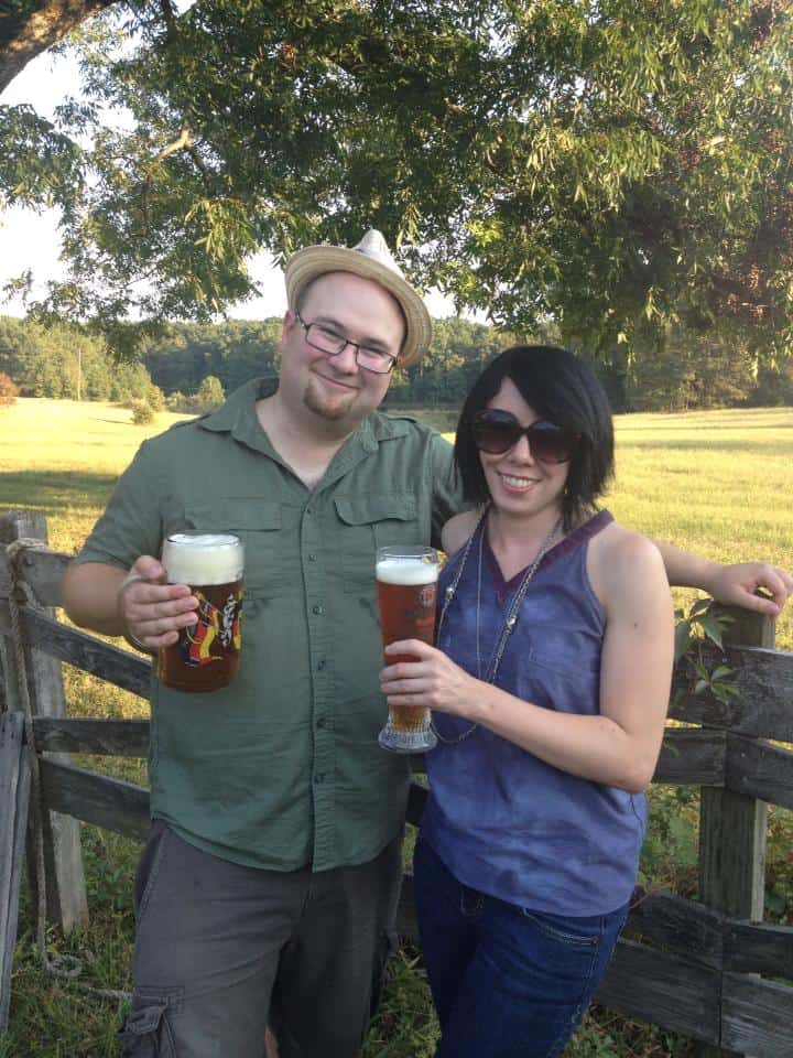 Fresh air, a sweet guy, and a tasty brew!