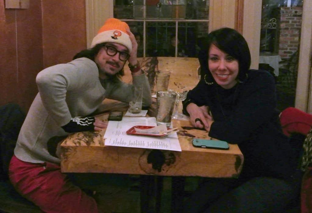 MIchael Krajewski and Jillian at restaurant