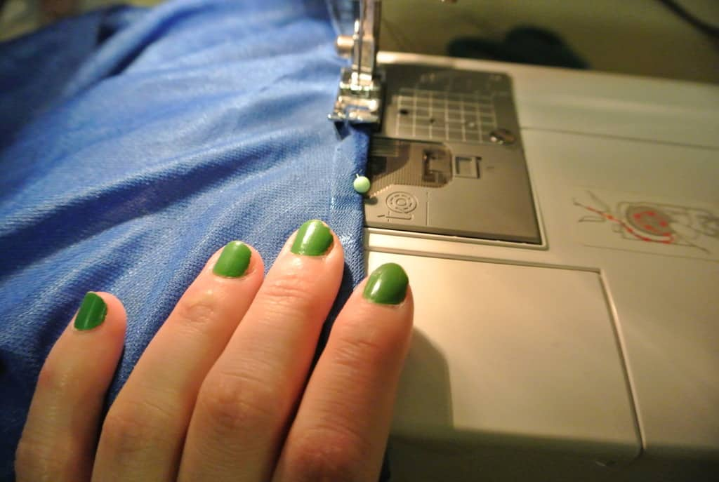 sewing armhole