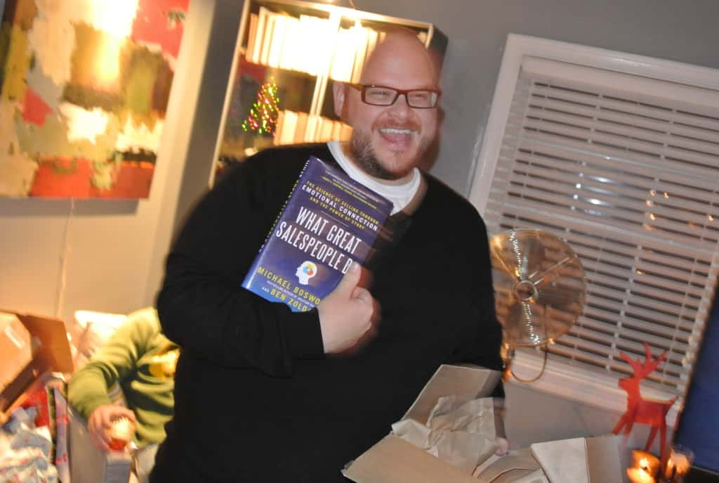 """david with book titled """"what great salespeople do"""""""