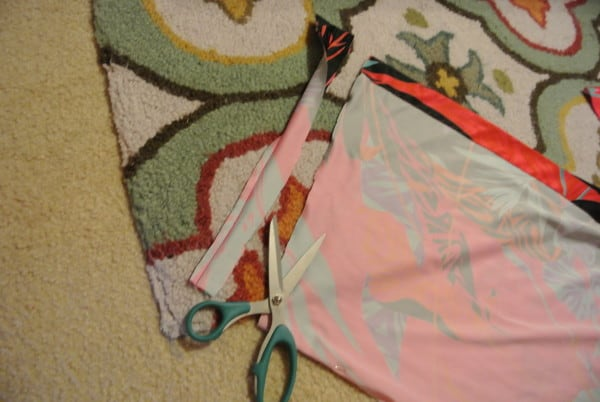 cutting sash for muumuu dress