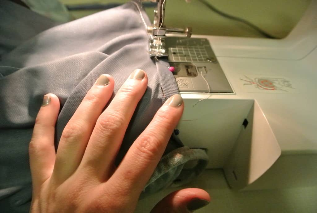 sewing arm hole lining