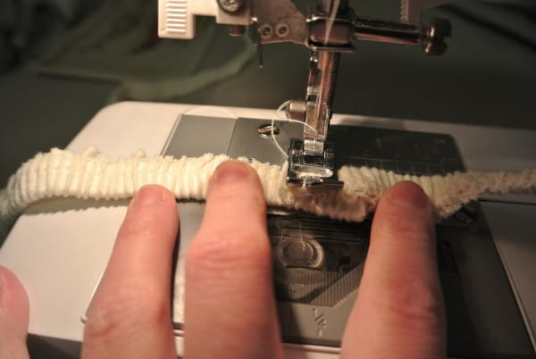 stitching elastic together