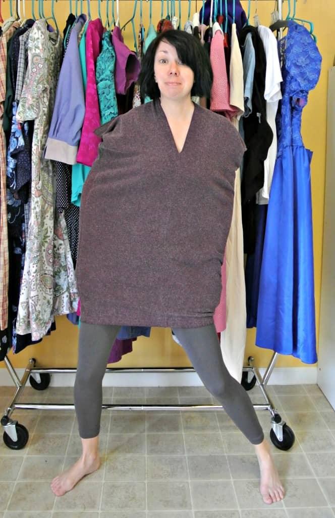 refashionista in armless dress