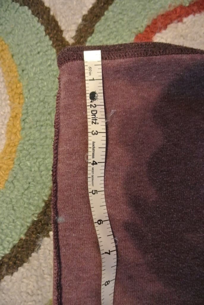 skirt marked with tailors chalk