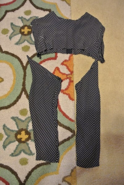 using sleeve as shoulder for dress refashion