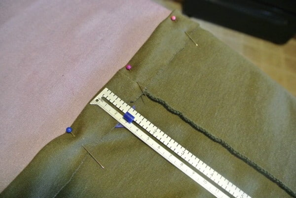 Fold under & pin