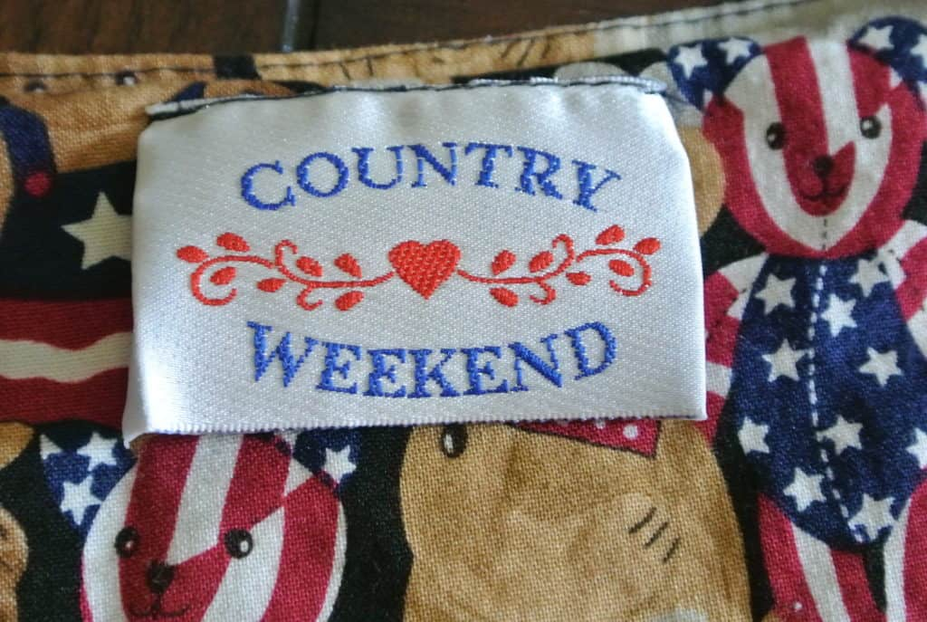 country weekend label