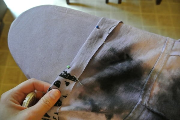 pinning top of dress