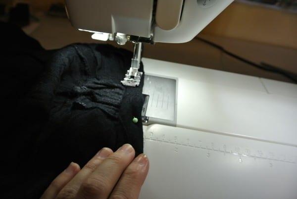 sewing new neckline down