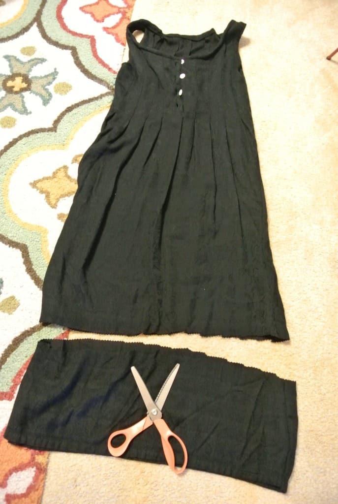 Shortening length of dress