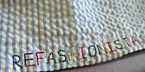 refashionista stitched on hem