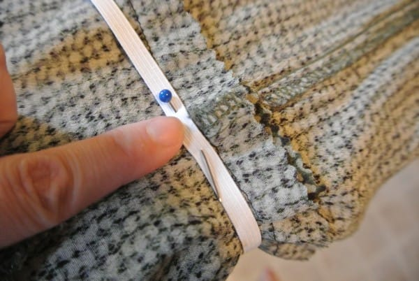 pinning elastic along seams