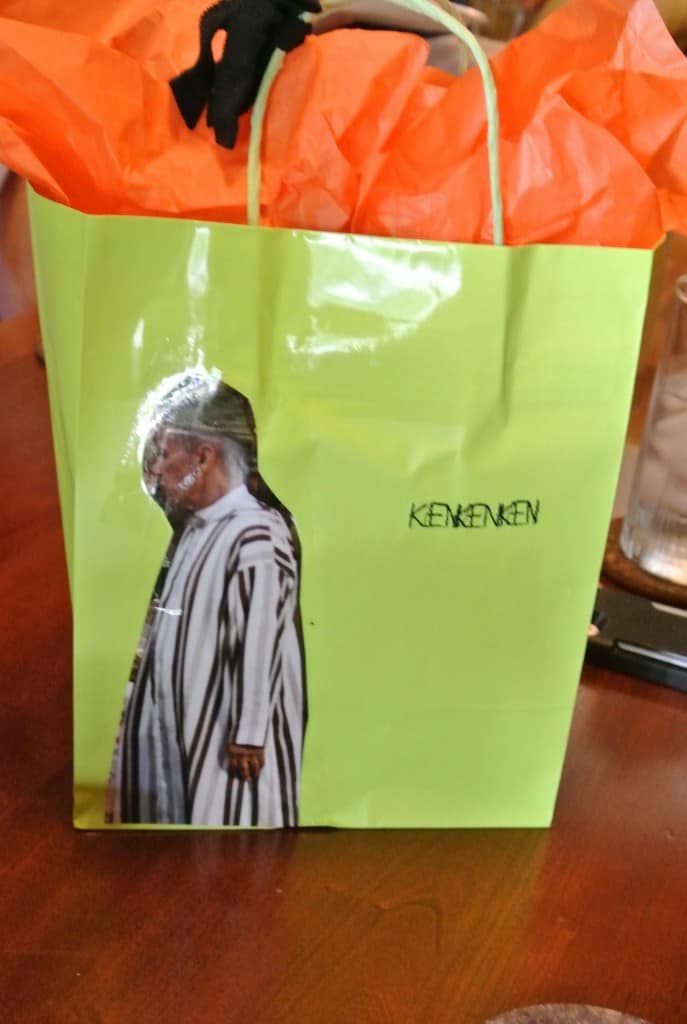Ken's birthday present in bag