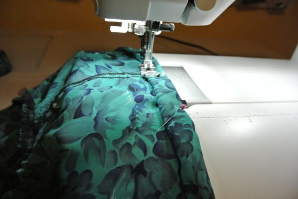 stitching top casing for diy strapless dress