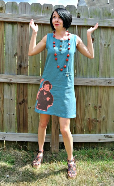 What Would Julia Do? A T-Shirt Appliqué Dress Refashion After